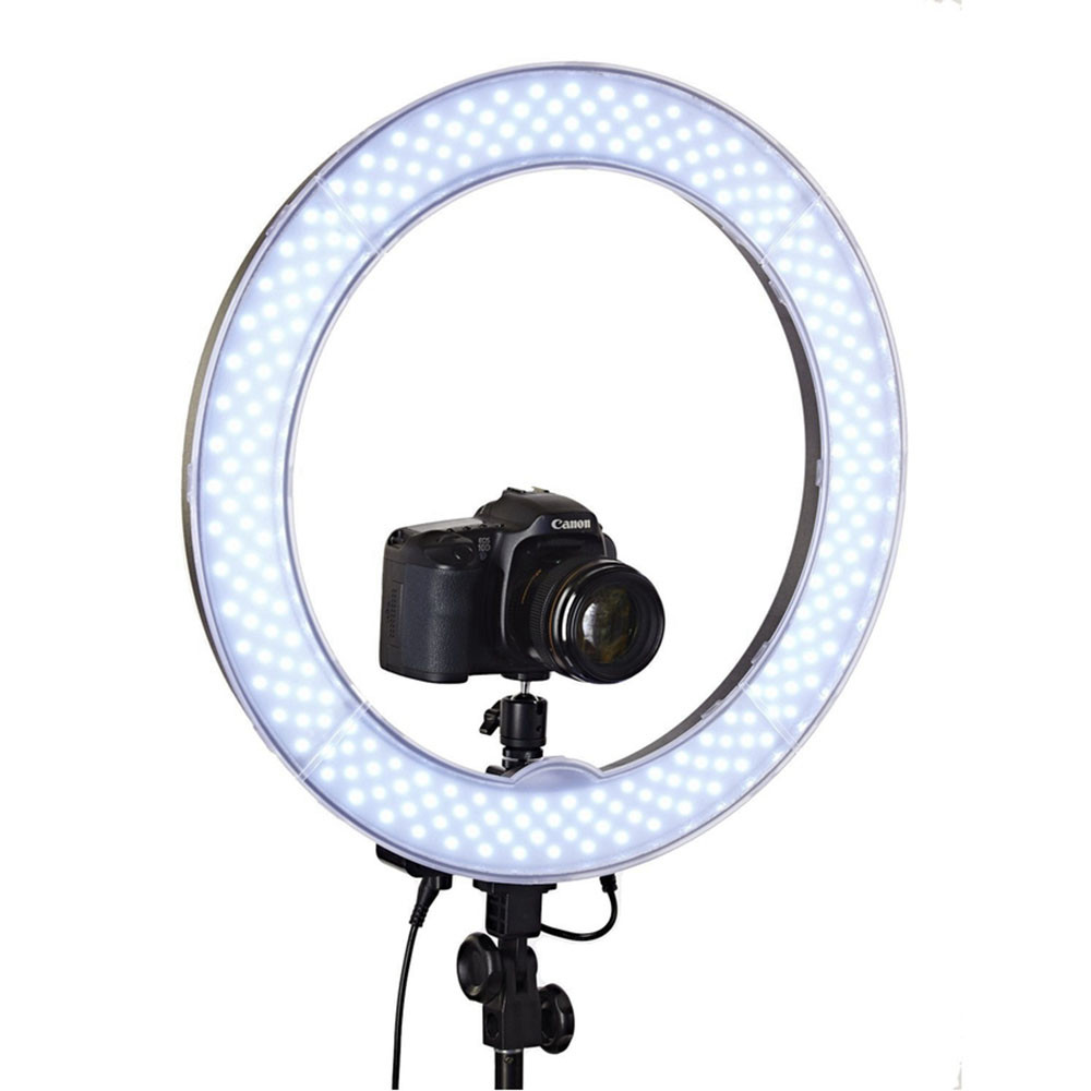Studio Dimmable 18 55W 5500K LED Camera Mirror Video Ring
