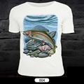 Maximumcatch Fly Fishing T Shirt Short Sleeve Sports Clothes Unisex Clothing Fish Pattern