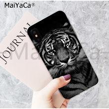 MaiYaCa милый чехол для телефона модный Тигр Леопардовый принт пантера для iphone 11 pro 8 7 66S Plus X 5S SE 44S XS XR XS max(Китай)