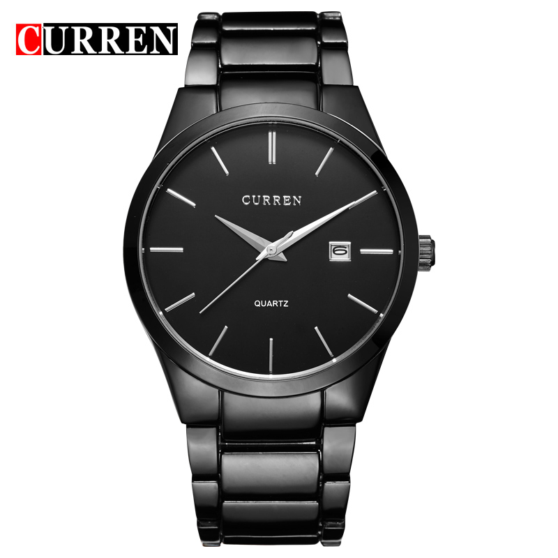 font b relogio b font masculino CURREN Luxury Brand Full Stainless Steel Analog Display Date