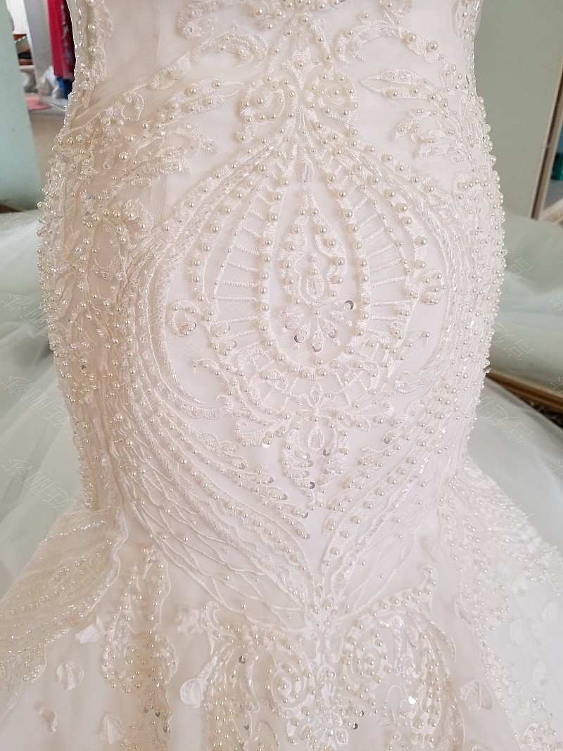 LS17006 Sexy mermaid wedding dress see through back cap sleeves tulle lace wedding gowns 2017 robe de mariee sirene 17