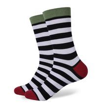Pánske farebné pruhované ponožky z Aliexpress
