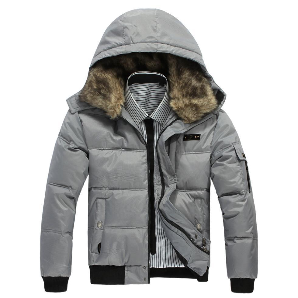 14 new winter coat thick warm winter men's casual cotton ...