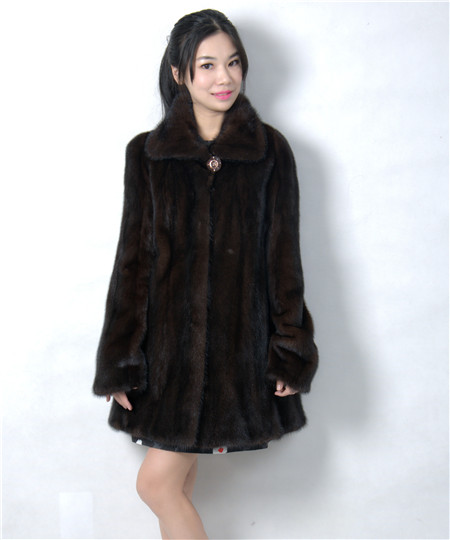 genuine mink fur coat short with turn down collar 2016 winter woman fashion real natural mink