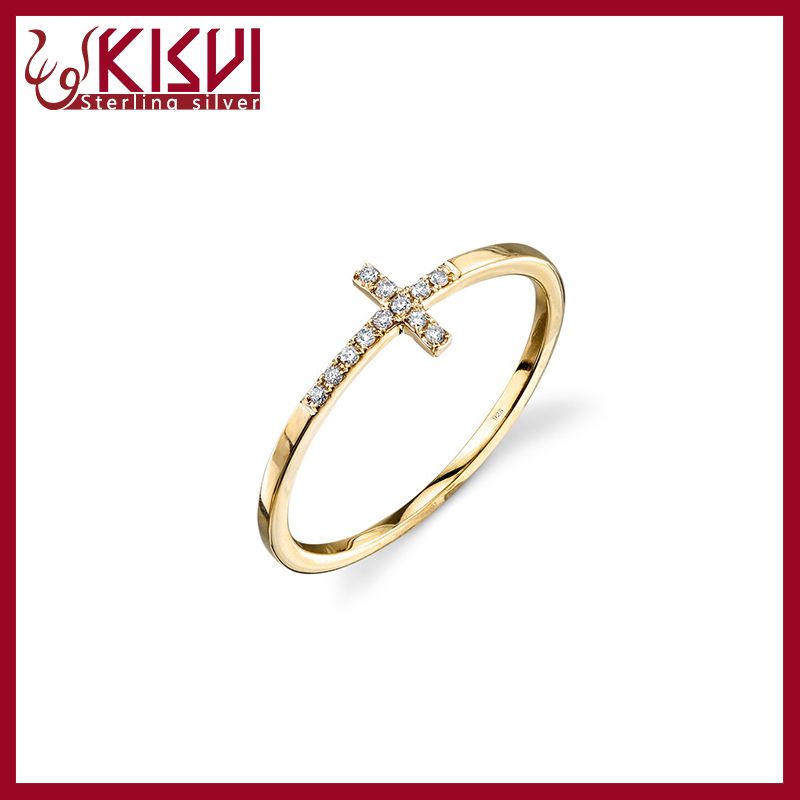 Gold Finger Ring Design For Women With Price Simple Ring Cross