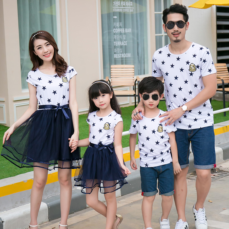 3130fbe1 2016 summer mother daughter dresses family matching clothes mommy and me clothes  father son outfits mother father baby clothing