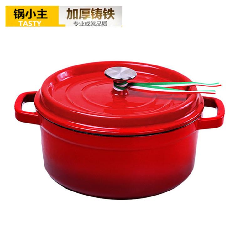 Cast Iron Casserole Pot Soup Stew Handmade Wok Cooker