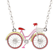Женское Ожерелье-чокер WEVENI, массивное ожерелье в форме велосипеда с металлической цепочкой и эмалью, модные аксессуары(Китай)
