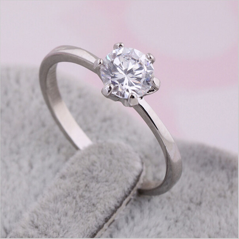 Anillos Gifts CZ Ring Gold Plating Platinum Wedding Ring Couple Models Anelli Donna Knuckle Ring Engagement