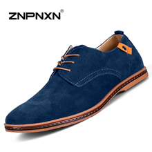 Big Size 38-48 Size European style Men Suede Leather Shoes California Casual Oxfords Shoes best mens loafers Fast Shipping