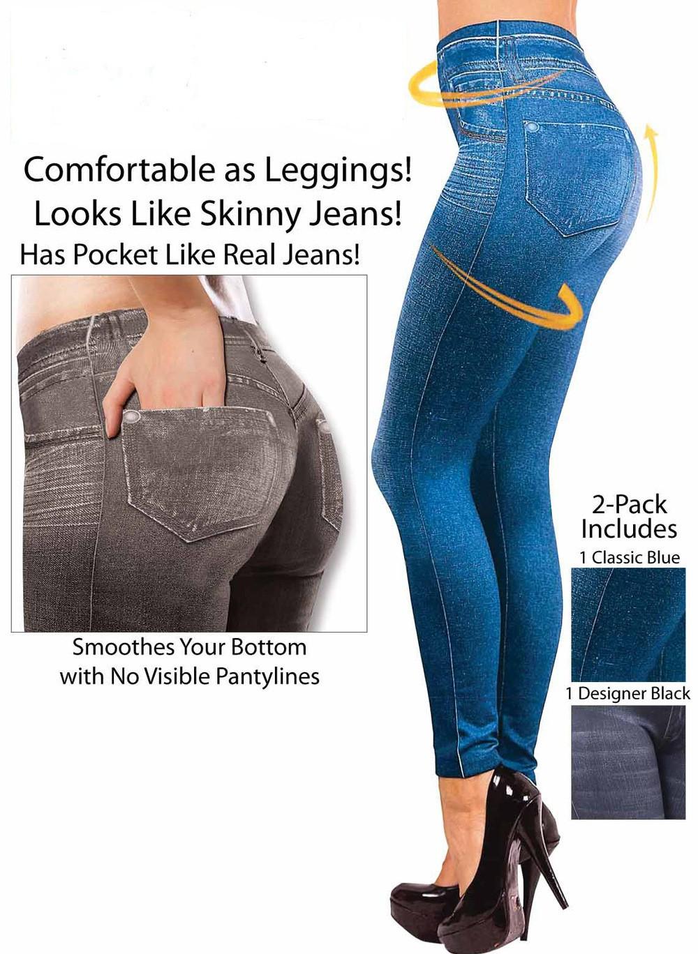 368b697f448 Fashion Leggings Jeans for Women Denim Pants with Pocket Slim ...