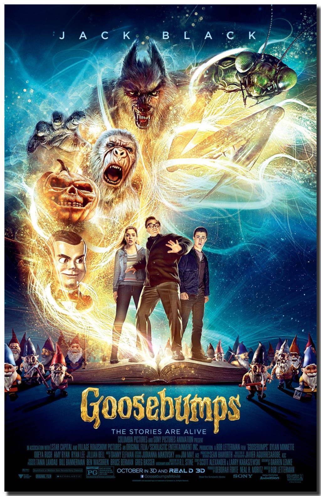 Free shipping goosebumps adventure movie hd fabric posters - Goosebumps wallpaper ...