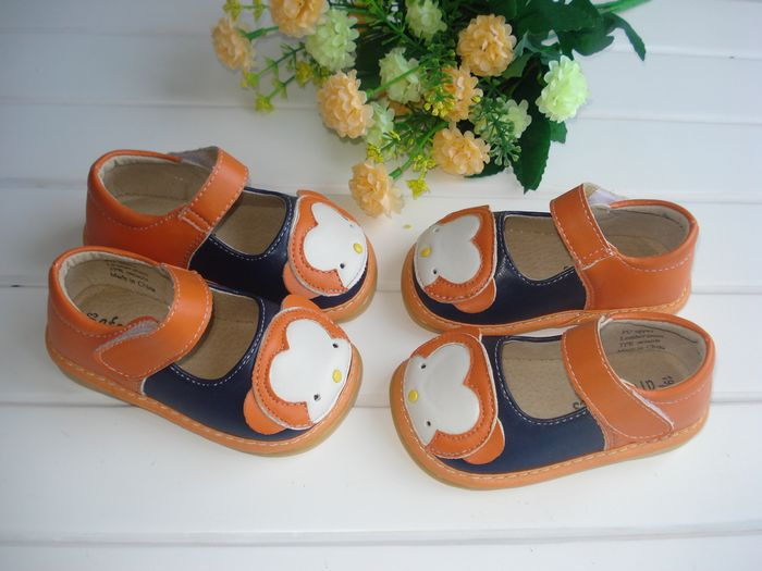 Clearance Price for Little Girl Spring Shoes Orange Monkey Children Girl Shoes Free Shipping Cute