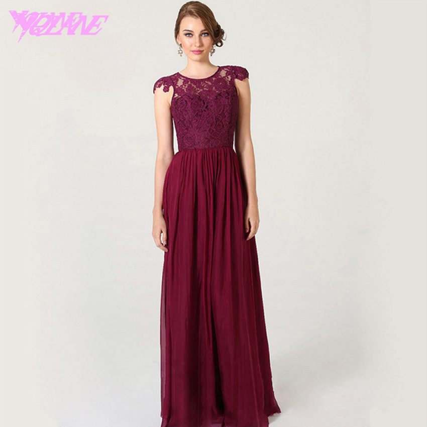 Vestidos Dama De Honor Color Vino