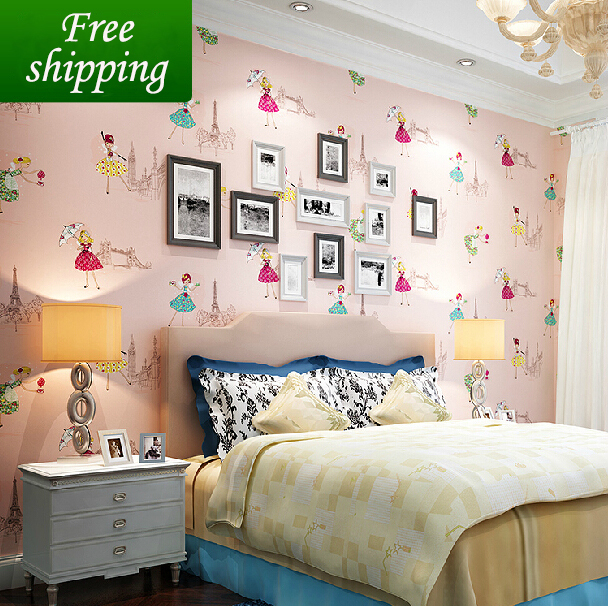 Girly Princess Bedroom Ideas: New Arrival Children's Non Woven Wallpaper Cartoon Dancing
