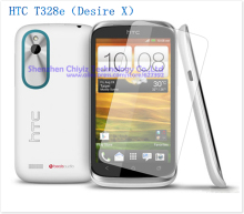2 x High Quality Clear Glossy Screen Protector Film Guard Cover For HTC Desire X Dual T328e Proto