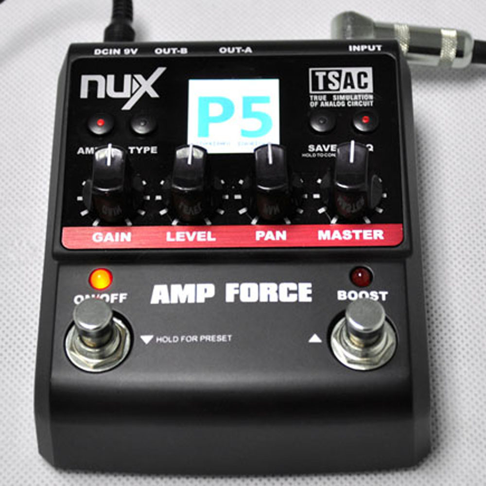 free shipping nux guitar amp force modeling amplifier simulator electric effects pedal in guitar. Black Bedroom Furniture Sets. Home Design Ideas