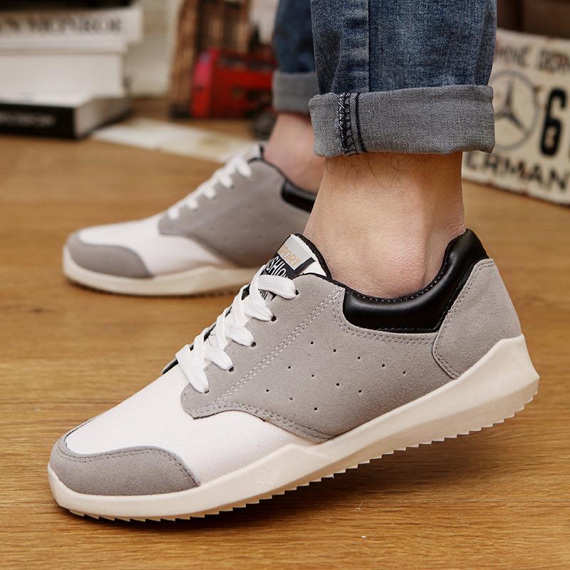 Весна тенденция свободного покроя обувь брезент обувь спортивная обувь корейский обувь