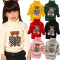 Retail 0 4years turtleneck knitted sweaters boys girls baby kids children Clothing Clothes Infant Garment spring