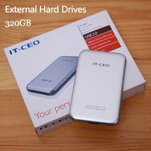 """Free shipping 2.5"""" Slim Portable HDD 320GB Original IT-CEO USB2.0 External Hard Drives Storage Disk Plug and Play On sale"""