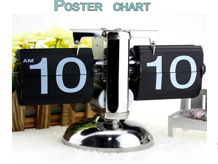 New Design Auto Flip Clock Retro Flip Down Calendar Clock