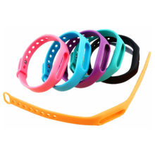 Colorful Silicone For Xiaomi Miband Wrist Band Bracelet Wrist Strap For Xiaomi Mi Band Smart Band Watch 1Pcs