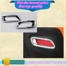 Chrome styling accessory trim tail light 2pcs ABS rear car fog lamp cover  fit for Subaru xv