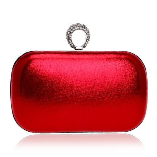 SEKUSA Женская вечерняя сумка с бриллиантами и кольцом на палец, простая сумка через плечо с цепочкой, смешанный кристалл, Свадебная вечерняя с...(Китай)
