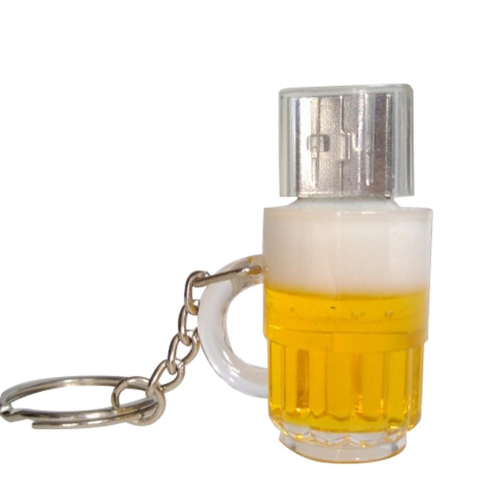100% Real Bottle /Can Beer mug 4GB 8GB 16GB 32GB 64GB 2 0 USB disk flash  card memory pendrives disk Key Chain free shiping
