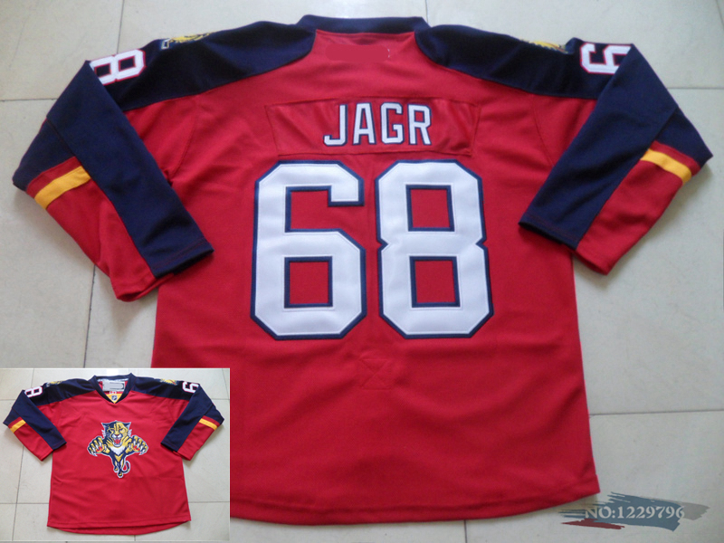 d2e6255b6 Mens Florida Panthers Ice Hockey Jerseys 68 Jaromir Jagr Jersey home Red  White ...