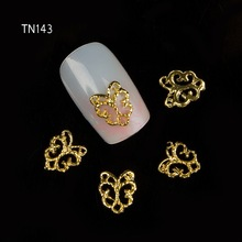 10pcs Metal Butterfly Rhinestones 3d Nail Art Decorations Alloy Nail Stcikers Charms Jewelry for Nail Gel