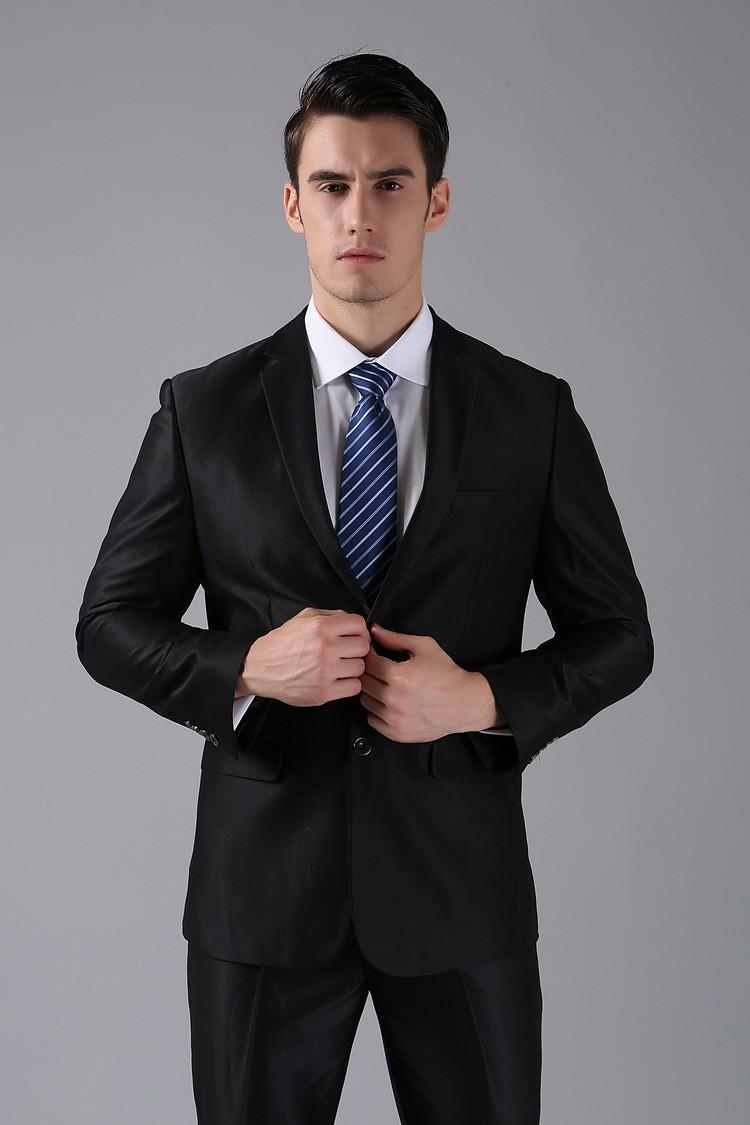 (Kurtki + Spodnie) 2016 Nowych Mężczyzna Garnitury Slim Fit Niestandardowe Garnitury Smokingi Marka Moda Bridegroon Biznes Suknia Ślubna Blazer H0285 23