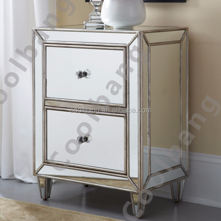 Antique Venetian Mirrored Drawer Chest Bedside Table Buy