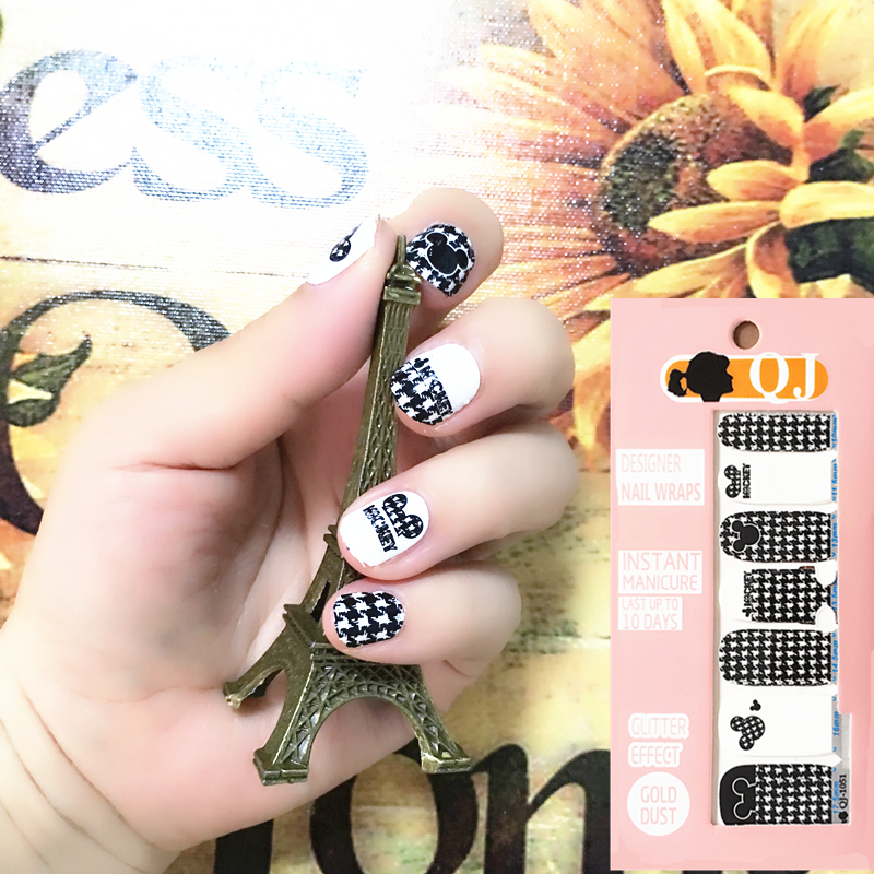 Black White Cute Mouse child Nail Arts Nail Sticker Waterproof Nail Decal Sticker Gel Polish French