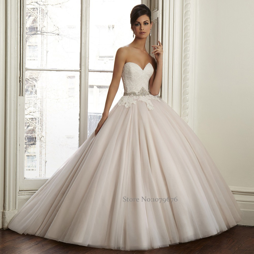 New Designs 2015 Vestidos De Boda Elegant Romantic Light