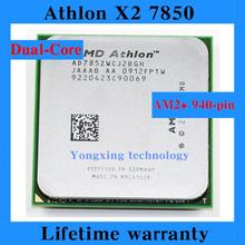 Lifetime warranty Athlon X2 7850 2.8GHz 2M Dual Core desktop processors AD785Z CPU Socket AM2+ 940 pin Computer