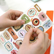 DIY Notebook Funny Mustache Photo Album Envelope Seal Scrapbook Paper PVC Sticker Vintage Stamp Diary Stationery Stickers H0184