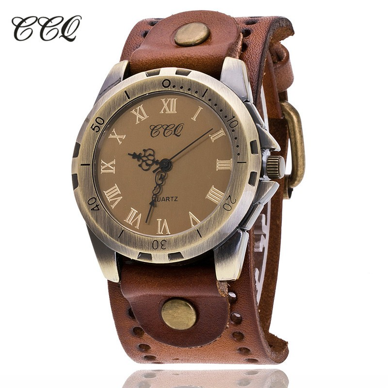 7d9622de84c Relógios de quartzo Relógios de quartzo baratos CCQ Marca Vintage Reloj  Hombre Cow.We oferecer o melhor preço de atacado