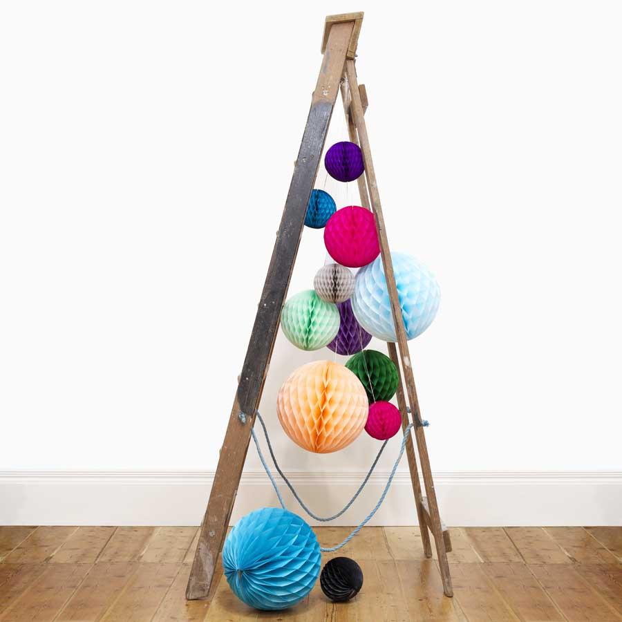 """Paper Balls Decoration: 5pcs/lot 6""""(15cm) Decorative Tissue Paper Honeycomb Balls"""