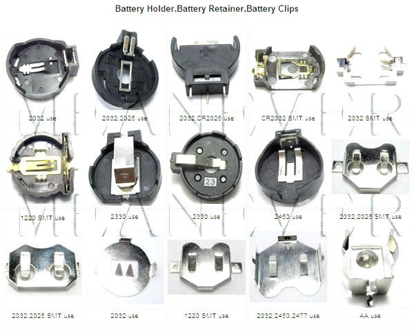Battery Holder And Battery Retainer For Lithium Coin Cell