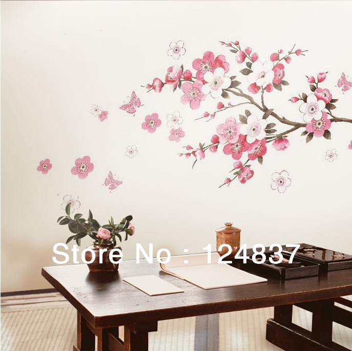 Sakura Flower Bedroom Room Vinyl Decal Art DIY Home Decor