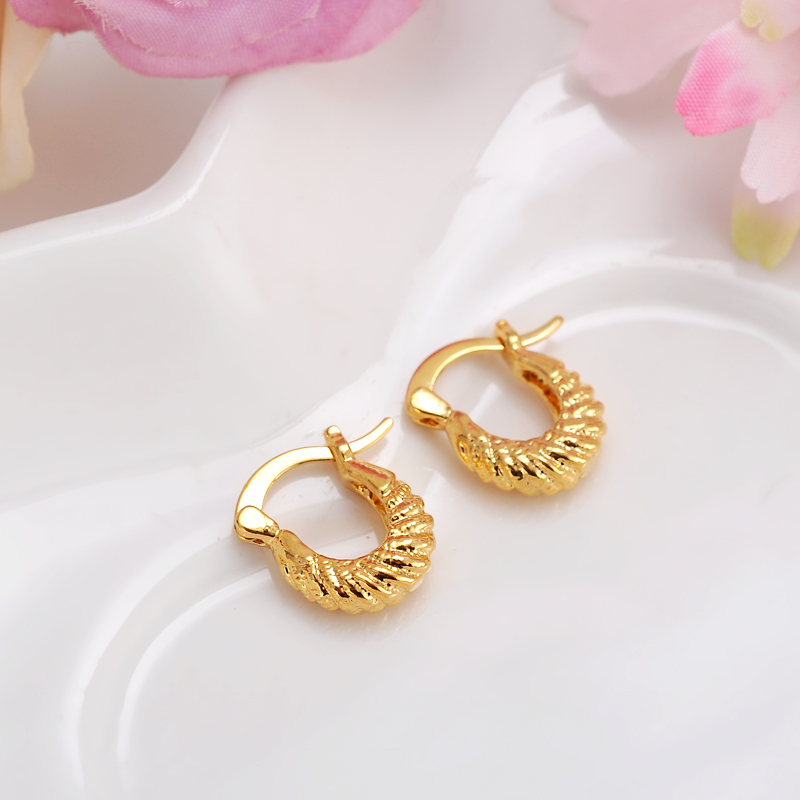 Baby S Small Round Circles Huggies Hoop Earrings Gold Color Jewellery For Kids Children Aros Women Jewelry African Best Gift