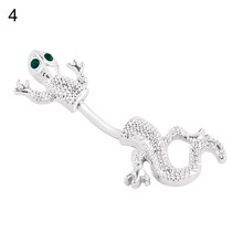 Кольцо для живота Big Gecko Lizard, Модный женский пупок для пирсинга тела, ювелирный хирургический стальной стержень без никеля(Китай)