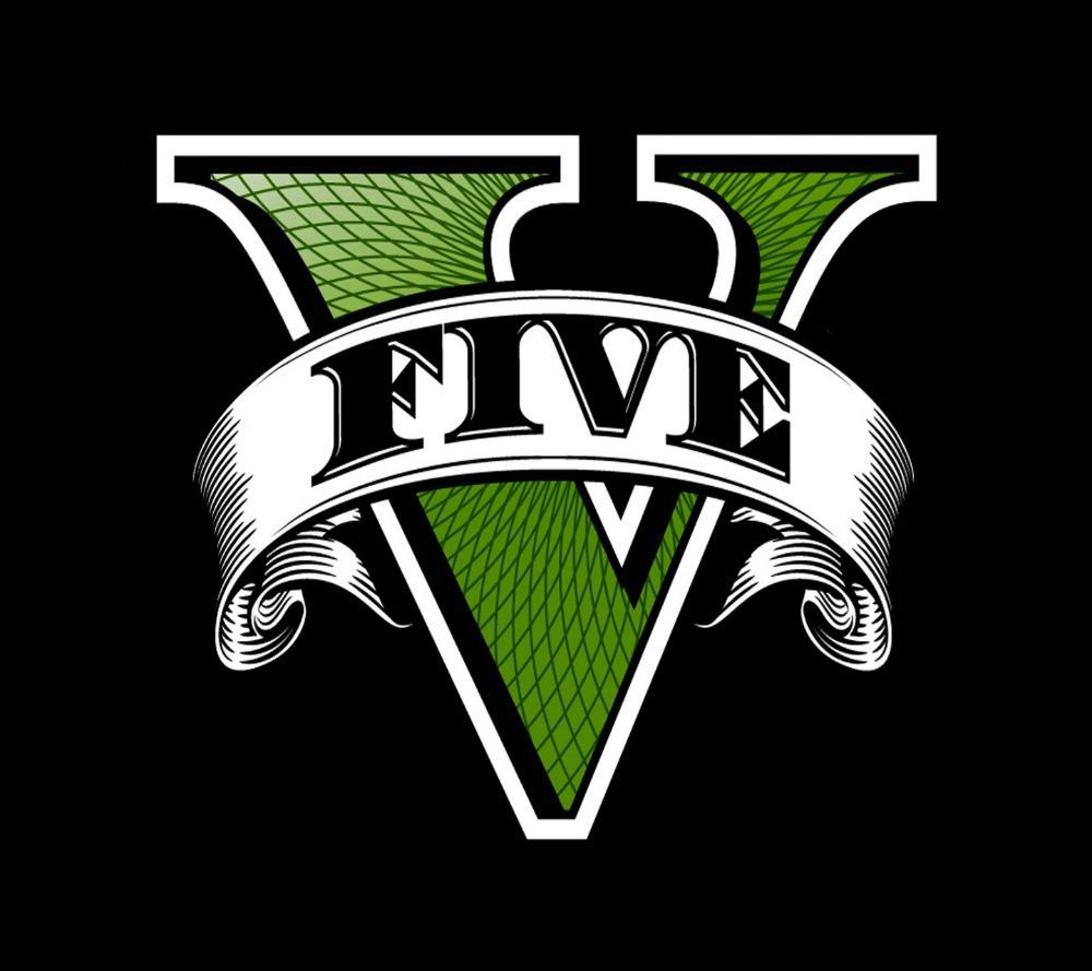 High Quality GTA V Grand Theft Auto V Logo Rockstar Games