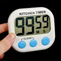 לבן דיגיטלי LCD מטבח בישול ספורט טיימר ספירה לאחור שעון 12 המפתח 99 דקות