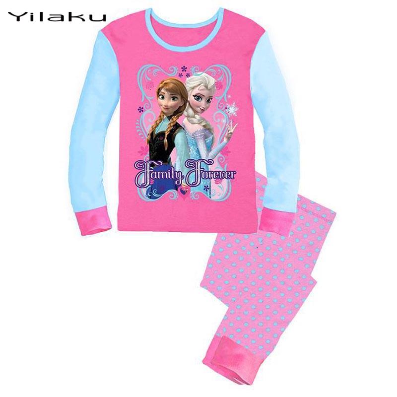 38c08d71c 2015 Brand Character Elsa Pajamas Set Baby Girls Cute Cotton ...