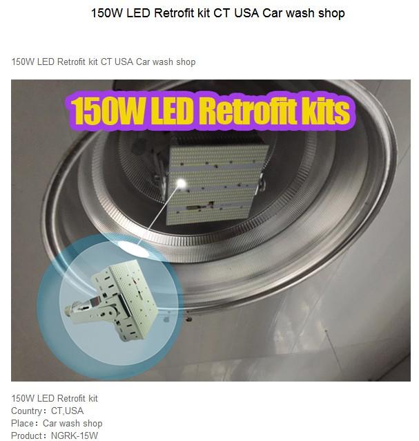 100W Retrofit Kit Led Shoe Box Parking Lot Light Retrofit
