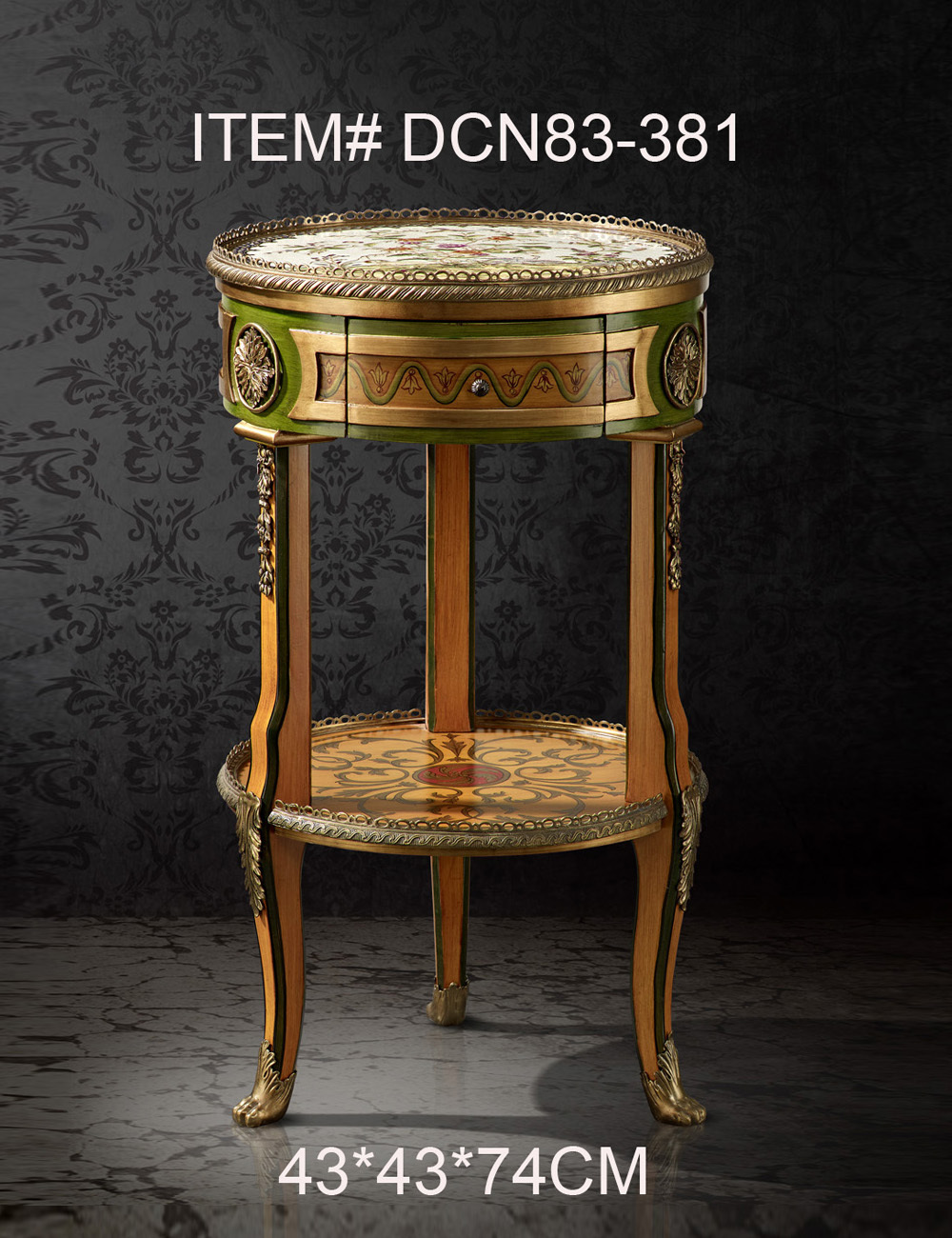 New classical round decorative bed side table end table - Antique side tables for living room ...