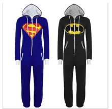 New Unisex Pyjamas Superhero Adult Onesies Mens Women Batman Superman One Piece Cotton Pajamas Sleepwear Onesies For Adults