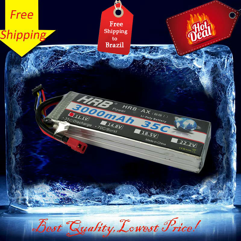 Free Shipping And Tracking 11.1V 3000mAh 3S 35C RC LiPo Li-Poly Battery